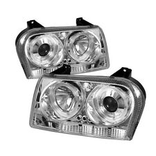Chrysler 05-08 300 Chrome Dual Halo LED Projector Headlight Lamp Limited/Touring