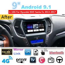 New listing For 2013-2017 Hyundai ix45 Santa Fe Car Stereo Radio 9'' Android 9.1 Mirror Link