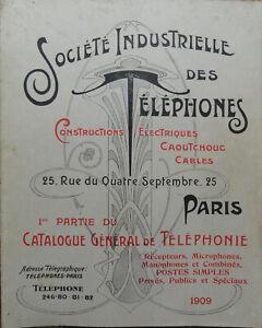 catalogue de la Société Industrielle des Téléphones de 1909