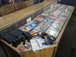 Sony PlayStation 2 Ps2 Slim Console, 40+ Games Tested and Working BUNDLE LOT