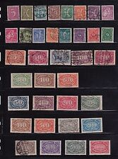 GERMAN HYPER-INFLATION ERA;161-184;185-196;137-209 (5) COMPLETE SETS ~