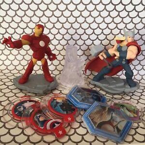 LOT OF Disney Infinity 2.0 Marvel Figures Toybox Game Discs Playset Ironman Thor