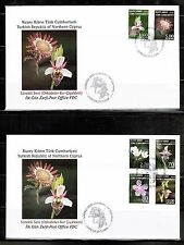 2008 FDC ORCHIDS-WILD  FLOWERS TURKISH CYPRUS