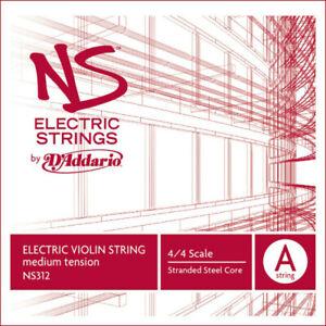 D'Addario NS312 - Corde seule (La) violon NS Electric manche 4/4 Medium