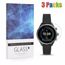 3 Packs 9H Tempered Glass Screen Protector for Fossil Sport Smartwatch 41mm Case