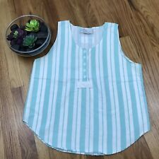 VTG 80s 90s Sleeveless Candy Striped Top Blue Sz Large Deb AA