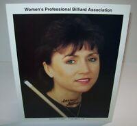 Darlene Stinson Womens Professional Billiard Signed Autograph Photo Pool Vintage