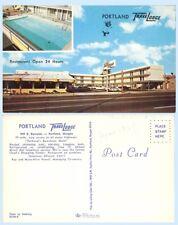 Travelodge Motel 949 E. Burnside  Portland Oregon Advertising Postcard Pool