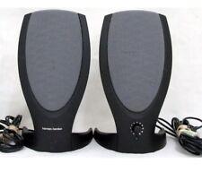 Harman Kardon Rev A00 Computer Speakers Stereo Black Multimedia w/ Power Supply