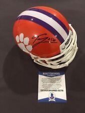 BECKETT COA! TREVOR LAWRENCE Signed Autographed CLEMSON TIGERS Mini Helmet 2019