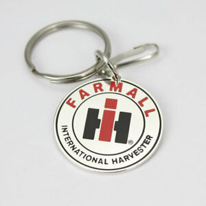 International Harvester Farmall IH Chrom Schlüsselanhänger Anhänger Key Chain US