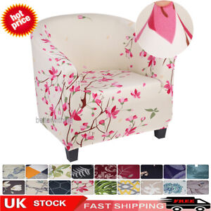 Elastic Tub Chair Cover Sofa Slipcover Stretchable Floral Fabric Armchair Covers
