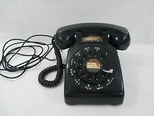 Vintage Western Electric Model 500 Telephone with Metal Dial and Leather Feet