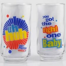 """LIBBEY Glass Diet Pepsi Tumbler uh huh 'You got the right one Baby"""" Last One"""