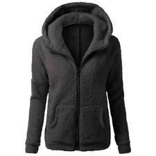 Womens Ladies Parka Hoodie Fleece Sweatshirt Hooded Hoodys Zip Jacket Coat