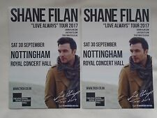 "SHANE FILAN Live in Concert ""Love Always"" 2017 UK Tour Promo tour flyers x 2"