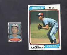 1974 TOPPS CARD & STAMP MIKE JORGENSEN #549 MONTREAL EXPOS