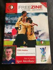FEYENOORD v CSKA MOSCOW 2008-09 UEFA CUP & UTRECHT LEAGUE - FREEZINE PROGRAMME