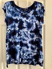 Crosby Soft T Shirt Blue Tie Dye Size Medium