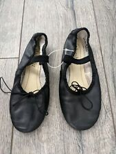 Ballet Slippers Girls Size 5.5 M Danshuz Black Dance Shoes