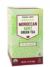 4 PACK Trader Joe's Organic Moroccan Mint Green Tea Hot or Cold