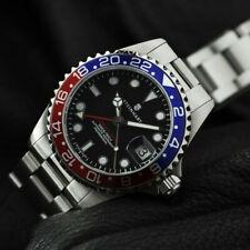 Steinhart Ocean One 39 GMT Blue Red Bezel Automatic Swiss ETA Dive Watch Pepsi 1