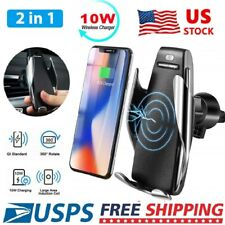 Fast Qi Wireless Car Charger Air Vent Mount Holder for Samsung Note8 S9 iPhone X