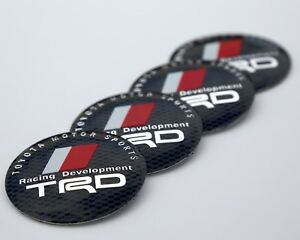 4x DOME SHAPE 3D Metal TRD Toyota Racing Development Sticker Decal Emblem 2.20""