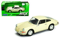 Welly 1:24 1964 Ivory Porsche 911 Diecast Model Sports Racing Car 24087CRM
