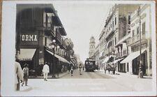 Veracruz, Mexico 1922 Realphoto Postcard: Calle de la Independencia-Trolley/Tram