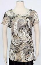 MSK Grey Cream Gold Glitter Cocktail Cami Tank Top Size L Women's New