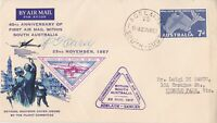 AFC148)AUSTRALIA  1ST FLIGHT COVER 1957-SOUTH AUSTRALIA -AAMC-1379