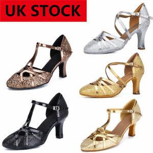 UK STOCK Ballroom dance shoes women's latin jazz national standard dance shoes