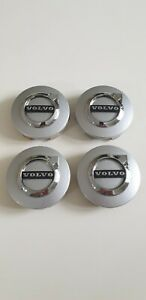 Genuine Volvo *New Style* Center Caps #31471435 Silver set of 4 - Mint condition