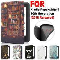 Protective Shell Cover Smart Case Leather For Kindle Paperwhite 4 10th Gen 2018