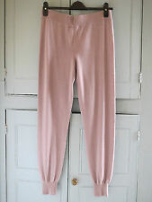 NEW M&S Autograph Taupe Modal Cashmere Blend Cuff Hem Pyjama Bottoms UK18 EUR46
