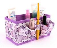 DIY Makeup Cosmetic Storage Box Bag Organiser Foldable Stationary Container Box