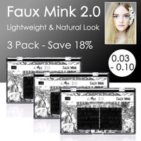 3 Pack Russian Volume Faux Mink Lash Individual Eyelash Extension 0.03-0.10