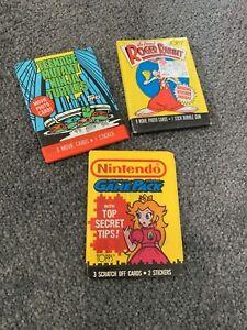 Vintage Trading Cards - Nintendo  - Sealed Pack 1987