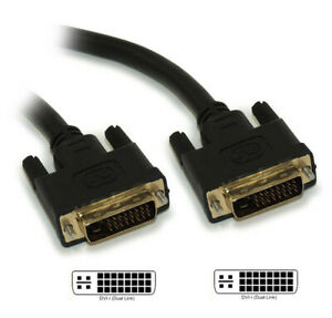 10ft DVI-I Dual Link DIGITAL AND ANALOG (28 AWG) Gold Plated Cable