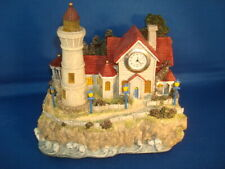 Thomas Kinkade Polyresin Sculpture Lighthouse Clock w/Led Light New
