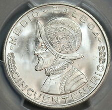 1953 PCGS MS 66+ Panama 1/2 Balboa Mint State Silver Coin (19091202C)