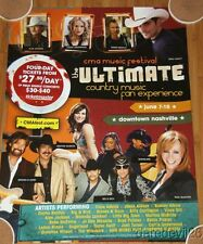 2007 CMA Music Festival Concert Poster JACKSON UNDERWOOD PAISLEY BENTLEY REBA