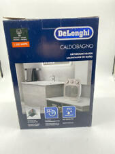 DeLonghi Portable Bathroom Heater, Quiet 1500W, White/Gray