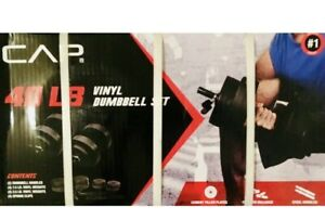 CAP 40 LB Vinyl Adjustable Dumbbell Weight Set of Golds Gym Daily Burn Muscle
