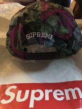 New Supreme Floral 5-Panel Cap Hat Camp All-Over Print Flower Black 2018 SS18