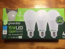 4 Pack 15w Greelite LED 100 Watt Equivalent A type Light Bulb -