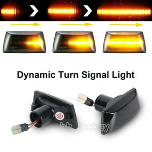 2x Dynamic Side Indicator LED Repeater Light For Adam Astra H GTC VXR Corsa UK