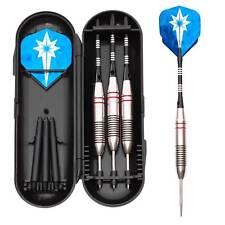 3x Darts   Dartpfeile mit Stahlspitze inkl. Transportbox & 6x Dart-Flights
