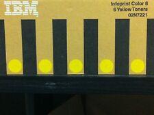 original IBM 02N7221 INFOPRINT COLOR 8 gelb yellow  6 Toner A-Ware